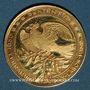 Monnaies Etats Unis. John F. Kennedy (+ 22.11.1963). Médaille or. 26,15 mm. 900 /1000. 10,47 g.