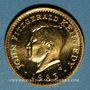 Monnaies Etats Unis. John F. Kennedy. (+ 22.11.1963). Médaille or. Module 20 francs. 1983. 1000/1000. 6,45 g.