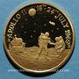 Monnaies Etats Unis. Vol Apollo 11. 16-24 juillet 1969. Médaille or. 20 mm