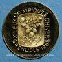Monnaies France J.O. d'hiver à Grenoble. 1968. Médaille or. 15,5 mm
