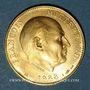 Monnaies François Mitterrand. Médaille or. Module 20 francs 1988
