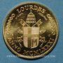 Monnaies Jean Paul II. Visite à Lourdes. 1981. Module de 20 francs. Médaille or. 1000 /1000. 6,45g.