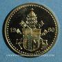 Monnaies Jean Paul II. Visite à Paris. 1980. Module de 20 francs. Médaille or. (PTL 750 ‰. 6,45 g)