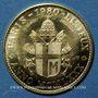 Monnaies Jean Paul II. Visite à Paris - Lisieux. 1980. Module de 20 francs. Médaille or. 920 /1000. 6,45 g