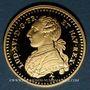 Monnaies Louis XVI (1774-1793). Demi-louis d'or au buste habillé, 1775. Médaille or 20 mm. Réplique B.E.