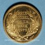 Monnaies Mère Thérésa. Médaille or. Module 20 francs. 1983. 1000/1000. 6,45 g.