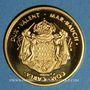 Monnaies Monaco. Albert I (1889-1922). Médaille or. 999,9 /1000. 11,58 g. 28 mm