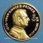 Monnaies Monaco. Louis II (1922-1949). Médaille or. 999,9 /1000. 11,48 g. 28 mm