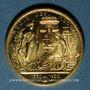 Monnaies Régie des Monnaies. Médaille or. Module 20 francs.  1000/1000.  6,45 g.