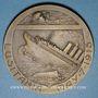 Monnaies Etats Unis. L'Amérique Vengeresse. 1918. Médaille bronze. 53,8 mm