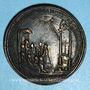 Monnaies Eugène IV (1431-1447). Canonisation de Saint Nicolas de Tolentino. Médaille de restitution, bronze