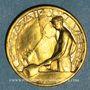 Monnaies Exposition internationale Arts & Techniques Paris. Le travail du verre. 1937. Médaille en bronze