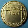 Monnaies Fédération Nationale des Combattants Prisonniers de Guerre. Médaille en bronze doré. 46,6 mm
