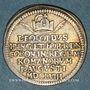 Monnaies Francfort. Couronnement de Léopold I. 1658. Frappe en argent du demi-ducat