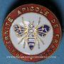 Monnaies Fraternité Apicole de France. Insigne. Laiton émaillé. 23,34 mm, avec marque de fabricant