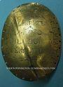 Monnaies Gevrey (Gevrey-Chambertin, Côte d'Or, Bourgogne), plaque de garde champêtre municipal an 4 (1795-96)