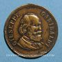 Monnaies Giuseppe Garibaldi (1807-1882) et Umberto I d'Italie. Médaille laiton