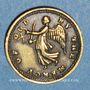 Monnaies Grande Bretagne. Bataille de la Corogne. 1809. Médaille laiton. 10,5 mm