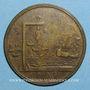 Monnaies Grande-Bretagne. Bataille du cap Sicié, 1744. Médaille bronze. 38 mm.