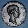 Monnaies Henri d'Artois, comte de Chambord, dit Henri V. Médaille bronze. 1842