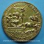 Monnaies Henri II. Médaille 1552. Bronze doré 54 mm, gravée par Etienne de Laune