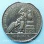 Monnaies Hommage des lyonnais au général Foy. 1825. Médaille plomb-étain. 55 mm