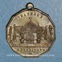 Monnaies Inauguration de la chapelle Saint-Ferdinand. 1.7.1843. Médaille cuivre jaune