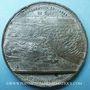 Monnaies Inauguration du Canal de Suez. 1869. Médaille en étain. 49,6 mm. Gravée par A. Restélli