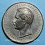 Monnaies Inauguration du Canal de Suez, 1869. Médaille étain. 49,5 mm.