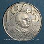 Monnaies Italie. 20 lire 1945 Mussolini. Argent. 30,5 mm