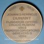 Monnaies Jean Henri DUNANT, fondateur de la Croix Rouge (1828-1910). 80e anniversaire, 1908. Médaille bronze