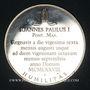 Monnaies Jean-Paul I (1978). Médaille argent 38,5 mm
