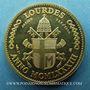 Monnaies Jean-Paul II. Visite en France. Lourdes. 1983. Médaille en argent doré. 20 mm