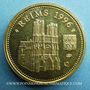 Monnaies Jean-Paul II. Visite en France. Reims. 1996. Médaille en argent doré. 20 mm