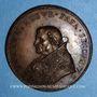 Monnaies Jules II (1503-1513). Vue de Civitavecchia. Médaille de restitution, bronze