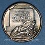 Monnaies Jules Mazarin, homme d'Etat (1602-1661). Médaille argent gravée par Dassier
