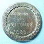 Monnaies Lille. Concours de 1855. Médaille en étain. 46 mm
