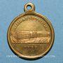 Monnaies Lille. Concours vocal et instrumental. 1855. Médaille laiton, avec anneau
