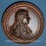 Monnaies Lorraine. Charles IV et Nicole (1624-1625). Médaille en bronze