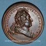 Monnaies Lorraine. Charles V (1675-1690) et Eléonore Marie d'Autriche. Médaille en bronze