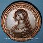 Monnaies Lorraine. Ferry III (1251-1303) et Marguerite de Navarre. Médaille en bronze