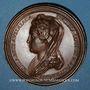 Monnaies Lorraine. Ferry IV (1312-1329) et Elisabeth d'Autriche. Médaille en bronze