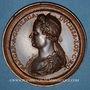 Monnaies Lorraine. Henri II (1608-1624) et Marguerite de Gonzague. Médaille en bronze. Variante inédite !