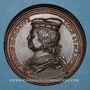 Monnaies Lorraine. Simon II (1176-1203) et Ide de Vienne. Médaille en bronze