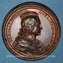 Monnaies Lorraine. Thiebault II (1303-1312) et Isabelle de Rumigny. Médaille en bronze