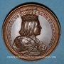 Monnaies Lorraine. Thierry le Vaillant (1070-1115) et Gertrude de Flandres. Médaille en bronze