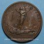 Monnaies Louis XIV. Bataille de Laufelt. Médaille bronze 1747
