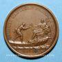 Monnaies Louis XIV. Distinction des marins. Médaille bronze 1693