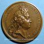 Monnaies Louis XIV. Prise de Brisach. Médaille bronze 1703
