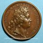 Monnaies Louis XIV. Prise de Verrua. Médaille bronze 1705